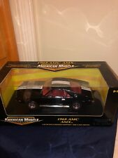 "1/18 ERTL AMERICAN MUSCLE 1968 AMC AMX BLACK with WHITE STRIPES ""SEALED"""