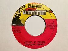 "Gregory Isaacs ""Let Me Be Yours"" and ""Version"" Record Factory Records Reggae"