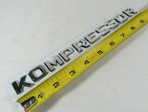 MERCEDES KOMPRESSOR EMBLEM SLK C CLASS REAR TRUNK CHROME BADGE sign logo letters