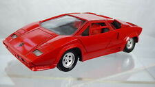 Vintage Tonka Polistil Lamborghini Countach 5000 Quattrovalvole 1:25 Red Toy Car