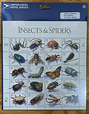 1998 Insects and Spiders, Full Sheet of 20 x 33-Cent Postage Stamps still sealed