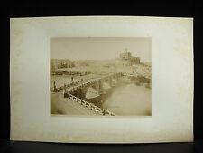 fotografia albuminé Château Saint-Ange Castel Sant'Angelo Roma 1880 photographie