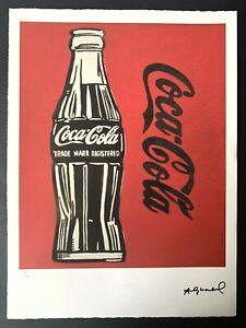ANDY WARHOL lithograph print Leo Castelli Edition Coca Cola