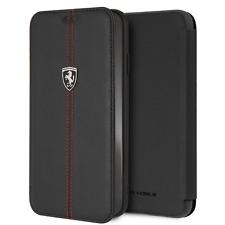 Ferrari Tipo Libro Funda De IPHONE XS Max Con Vertical Contrastado Rayas Negro