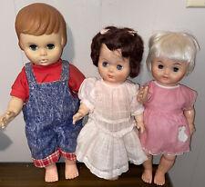 """Mixed Lot Of 3 Vintage 12� Dolls - """"Uneeda�, """"U�, """"Hd�,"""