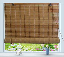 "Bamboo Roll Up Window Blind Sun Shade W24"" x H72"""