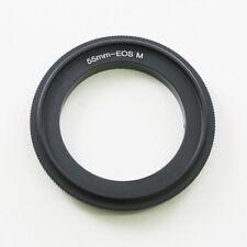 55mm Objektiv Makro Adapter Ring Umkehrring Umkehr Makroring für Canon EOS M EFM