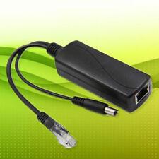 1x IEEE 802.3af RJ45 Active PoE Splitter Power Over Ethernet 48V 12V Computer