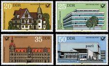 EBS East Germany DDR 1982 - Deutsche Post Buildings - Michel 2673-2676 MNH**