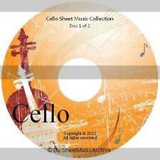 Massive Professional Cello Sheet Music Collection Archive Library on 2 DVD's