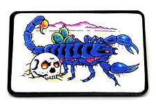 Calavera Y Impreso Tatuaje Arte Estilo Gótico Escorpión Hebilla De Cinturón * vendedor del Reino Unido *
