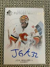 2017-2018 UD SP Authentic Autographed future watch Jon Gillies Calgary /999