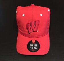 size 40 4791f 2beb8 Wisconsin Badgers Under Armour UA OSFA Adjustable Hat NWT Men s