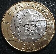 20 pesos Mexico 2016 Plan Marina UNC