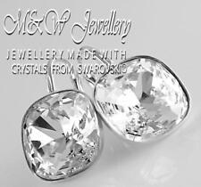 925 Silver Earrings Crystals From Swarovski® FANCY STONE 12mm - Crystal F