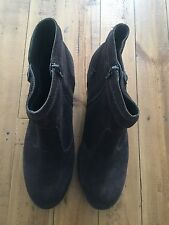 Women's Size 9 UK Brown Suede Boots Topshop