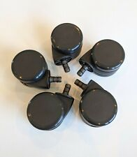 Full Set 5 Soft Office Chair Caster Wheels High Quality Hard Floor Steelcase
