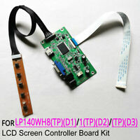 For LP140WH8 (TP)(D1)/(D2)/(D3) EDP 30-pin 1366x768 monitor controller board kit