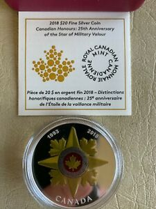 2018 $20 CANADIAN HONOURS: 25TH ANNIVERSARY OF THE STAR OF MILITARY VALOUR