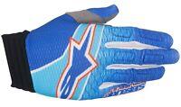Alpinestars Aviator Gloves Blue/Cyan/Red Motocross Mx Quad Atv Off Road