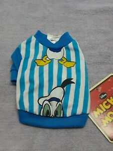 Disney's Donald Duck Size X Small Doggie Pullover T-shirt Blue And White New...