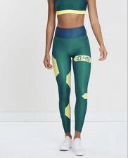 Horizon Athletics Float Leggings Size L Brand New Sports Yoga Green RRP $255