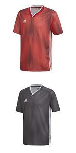 NEW Adidas Boys Athletic Tiro 19 Short Sleeve Soccer V Neck Training Jersey