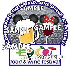 Disney World Epcot Food & Wine Festival Drinks Scrapbook Paper Die Cut Piece