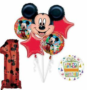 Mickey Mouse Party Supplies 1st Birthday Clubhouse Balloon Bouquet Decorations