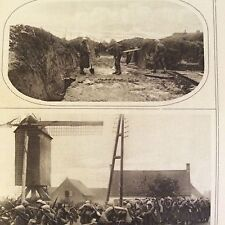 a1r ephemera 1916 ww1 picture belgian lines troops between ypres and the sea