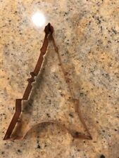 """Copper 7"""" Eiffel Tower Cookie Cutter Mold Paris France French"""
