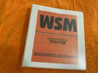 Kubota b2650hsdc b3350hsdcTractor Workshop manual Binder