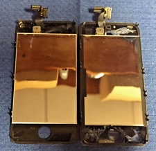 "LOT of 2 - iPhone 4S LCD/Touch Digitizers - Cracked Glass 3.5"" Black"