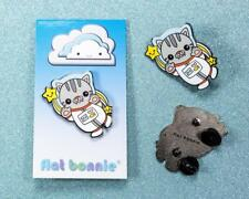 SPACE CAT 1.5 INCH ENAMEL PIN BY FLAT BONNIE