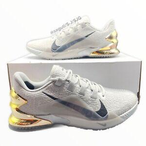 Nike Force Zoom Trout 7 Turf Baseball Men 11.5 Smoke Grey Black Gold CQ7225-006