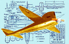 Build a vintage 1958 Speed Plane The 'ORBIT' Full Size printed plans for 1/2A
