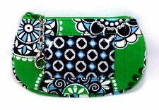 Vera Bradley Cupcakes Green Clip Zip ID Case New Luggage Tag Coin Purse NWOT