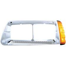 19 AMBER LED FREIGHTLINER FLD DRIVER SIDE HEADLIGHT BEZEL WITH TURN SIGNAL - AMB