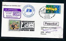 66838) LH SF Wien - Frankfurt - NAPOSTA 21.5.2001, Karte Schweden Schiffspost