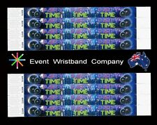 100 x Rave Party Time Tyvek, party, security, event, school wristbands