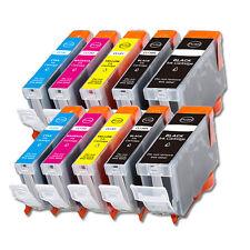 10 New Replacement Ink Set for Canon Pixma PGI-5BK CLI-8 MP500 MP530 MP600 MP610