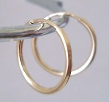 2 pairs 17mm 14k yellow Gold Filled Earring Endless round hoop Ear wire  Ge19