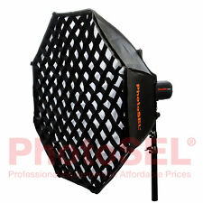 PhotoSEL SBSC200BE 200cm Octagonal Softbox & Honeycomb Grid Bowens S Speed Ring