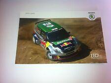 CP POSTCARD CARTOLINA SKODA FABIA HANNINEN RALLY RALLYE WRC 2011