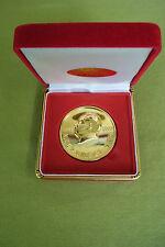 China Medaille - Auszeichnung - selten - 24K vergoldet