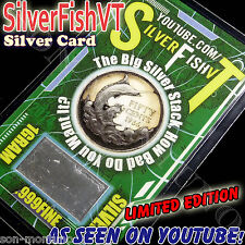 (5 PACK) SilverFishVT  LIMITED EDITION Card 1 gram .999 Ag Silver YouTube Series