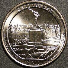 BU UNC United States Gettysburg America the Beautiful quarter 25 cent coins P/D