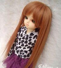 """6-7"""" hair 1/6 BJD YO super dollfie YOSD baby doll straight brown Wig AOD DOD DK"""