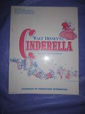 Walt Disney's Cinderella Handbook of Production Information