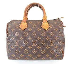 Authentic LOUIS VUITTON Speedy 25 Monogram Boston Handbag Purse #39542